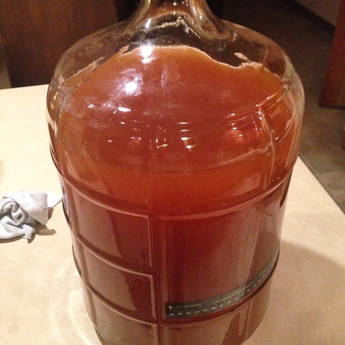 Sorry Karl Kölsch: racked to secondary with a gravity of 1.012. See you in three weeks, carboy. #homebrewing