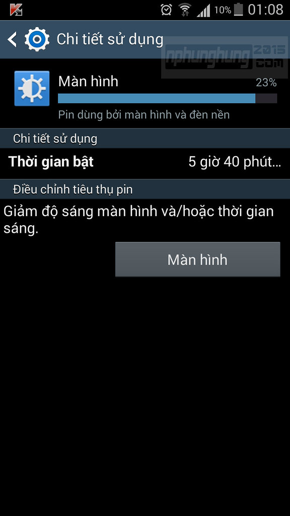 Thời gian On Screen