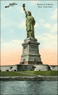 0897 R Statue of Liberty on Bedloes Island in New York City