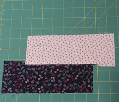 Sew strips off-set