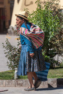Woman in Ollantaytambo, Sacred Valley, Peru Andean Area