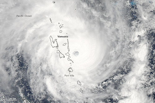 Tropical Cyclone Pam over Vanuatu