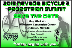 Save the date: 2015 Nevada Bicycle and Pedestrian Summit (May 5-6) #simasbicicletas @bikinglasvegas @nevadadot @cityofhenderson