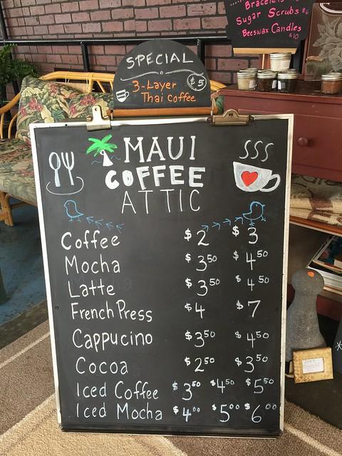 Maui Coffee Attic, John and Gwen Henry, Wailuku Coffeeshop