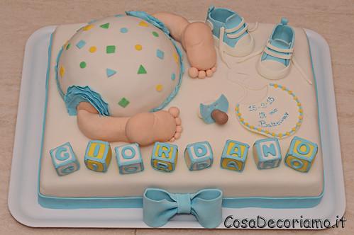Torte - 78 - Torta Battesimo maschietto