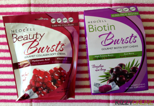 Neocell Beauty & Biotin Bursts skin hair nails supplements