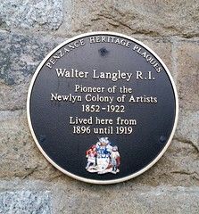Photo of Walter Langley black plaque