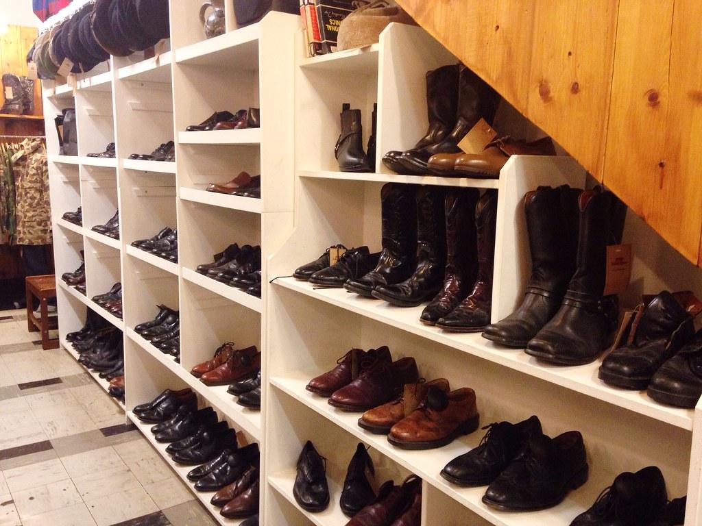 shoes at pop boutique vintage shop Manchester