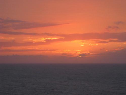 cruise sunset weather boat vehicles cruiseship royalcaribbean voyageroftheseas