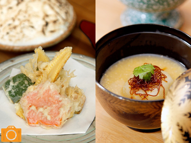Inagiku Vegetable Tempura and Corn Dashi Soup