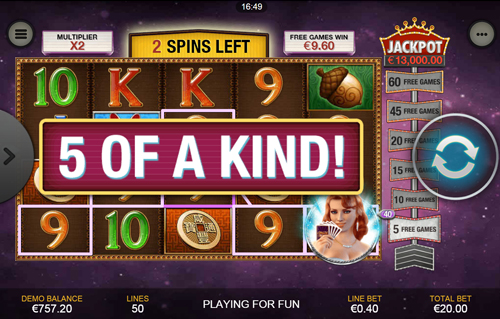 free Streak of Luck Mobile Free Spins 5 Of A Kind