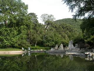 021 lake with stone sculpture, Fragrant Hills Hotel, Beijing