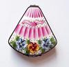 Vintage Limoges France Porcelain Box Hand Painted Artist Signed PB Fan Shape