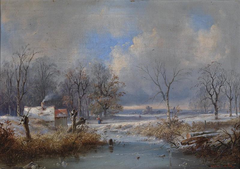 Raden Saleh Bustaman - Winterlandschaft (c.1830)