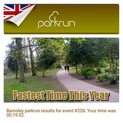 Barnsley Parkrun. Love this run, its one of the hardest Parkruns in the UK.  Had a great run. Finally getting back to faster speeds after last years long layoff. My fastest time this year and 4 seconds away from my PB...maybe next time!  #run #instarunner