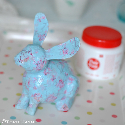 decoupage bunny tutorial 5