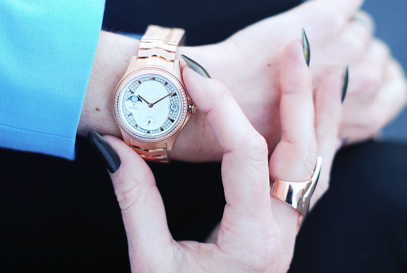 Maison EBEL collection rose gold diamond watch | Not Dressed As Lamb