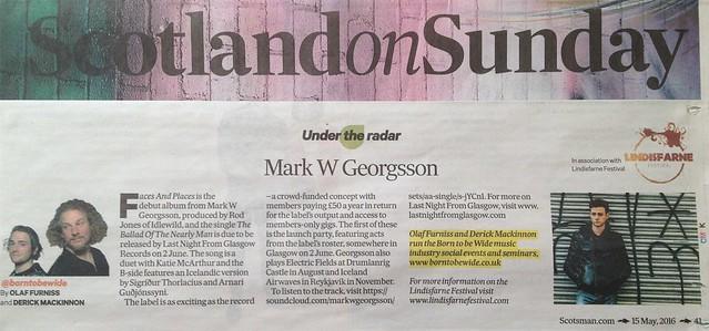 Scotland On Sunday, 15 May 2016, Mark W. Georgsson
