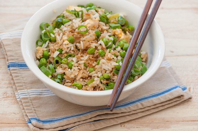 egg & pea fried rice