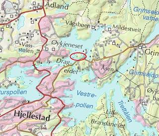 Kart over Eidsholmen 2015