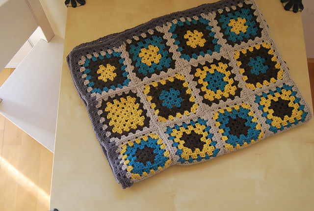grannies square blanket manta bebé crochet