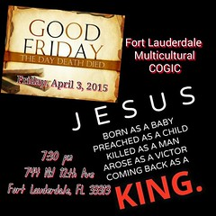 #GoodFriday Please join us.