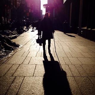 Long Shadows at Bloor and Yonge