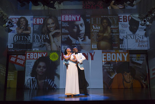 Rema Webb and Nathan Lee Graham. The uproarious and groundbreaking comedy by George C. Wolfe that redefined what it meant to be black in contemporary America, The Colored Museum plays March 6 — April 5, 2015 at the Avenue of the Arts / BU Theatre. Photo by T. Charles Erickson.