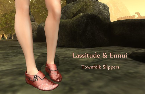 Townfolk Slippers by Lassitude & Ennui