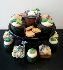 St. Patrick's day desserts - Guinness budino, Car Bomb cupcakes, Irish bread and Lucky Charms treats