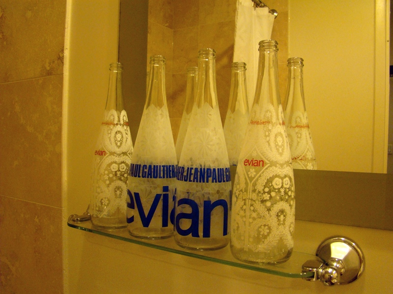 Evian designer bottles Jean Paul Gaultier Christian Lacroix
