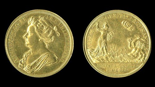 1702 Queen Anne Coronation medal