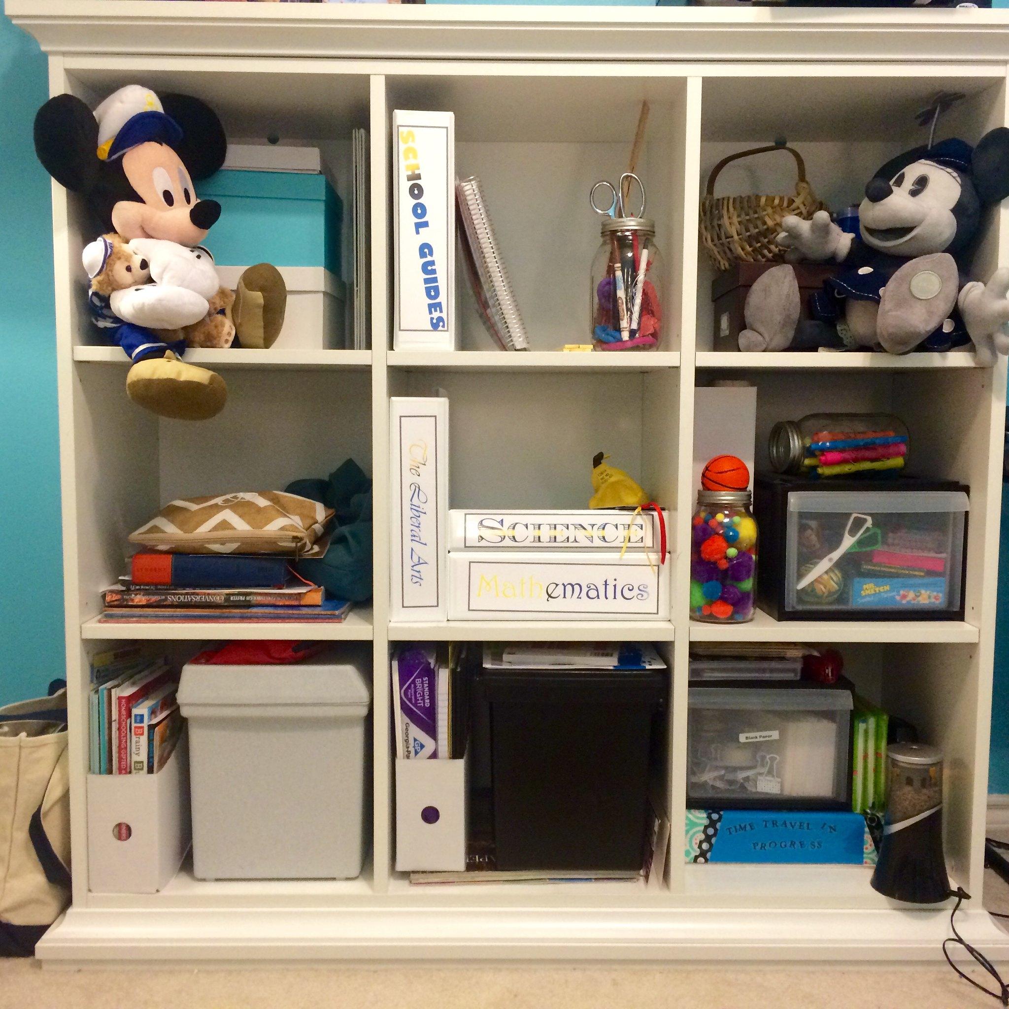 Homeschool Classroom Reorganization 2015