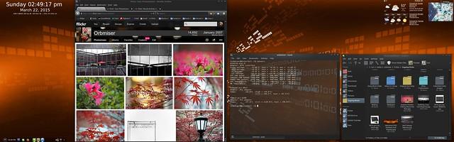 Netrunner KDE Desktop Dual Display Apps