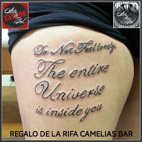 #frase #muslo #tattooarteypiel #tatuajes #artisticos #leviathoth #isaaccelis #aguascalientes #mexico #tattooink #tattooart #tattooist #tattoo #rifa #regalo