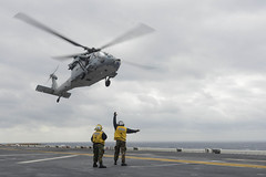 A MH-60S Seahawk helicopter assigned to Helicopter Sea