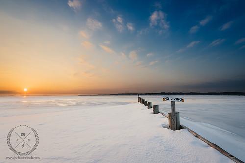 morning winter sky snow ny seascape cold ice beach water sign clouds sunrise landscape coast li march early frozen nikon snowy shoreline scenic wideangle calm longisland shore coastline nodiving frigid winterscape 2015 southold d610 founderslanding nikkor1635mmf4vr jschusteritsch jonschusteritsch