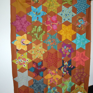 6-Point Star Quilt Top Finished!