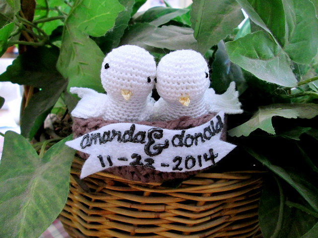 Crocheted Lovebirds