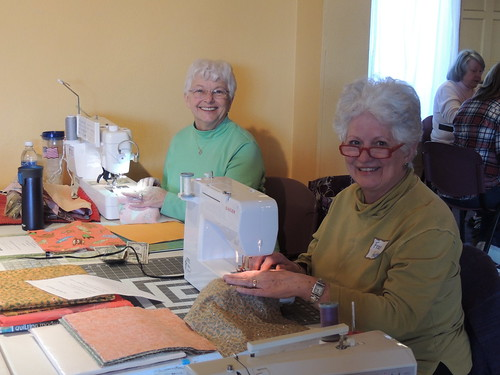 Sandy and Fran - Happy to be quilting with friends