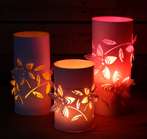 Cut Paper Flower Lanterns