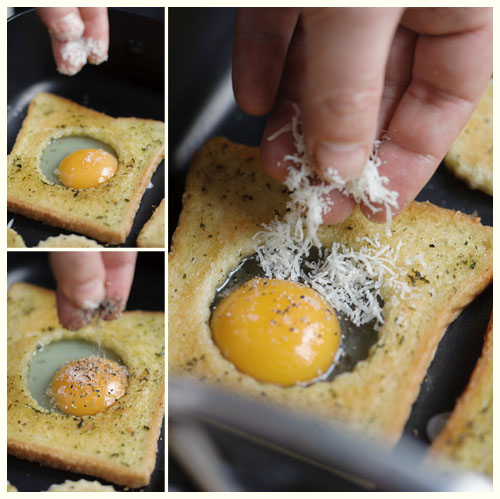 Herbed Eggs in a Hole