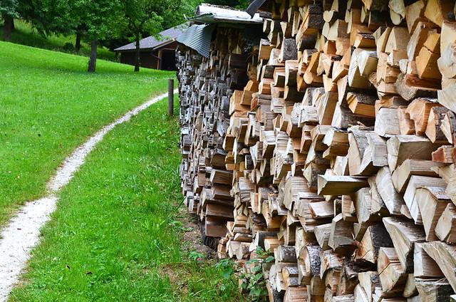 Woodpiles, Salzkammergut, Austria