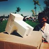 Las figuras de Proyecto Ensamble presentes en Lollapalooza.  Proyecto Ensamble blank figures in tha house at Lollapalooza.  #lollapalooza #lollapaloozachile #proyectoensamble #blankfigures #blank #papertoys #papertoy #papercraft #arttoys #designertoys #ur