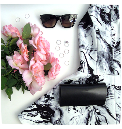Keepsake Marble Dress Flatlay