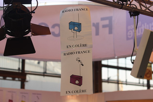 Radio France en grève - Salon du Livre de Paris 2015