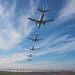 I've never done a throwback, so I'm throwing it back to when the sky was blue & 5 planes landed in a row...in my imagination.✈️ by Sonika Arora 604