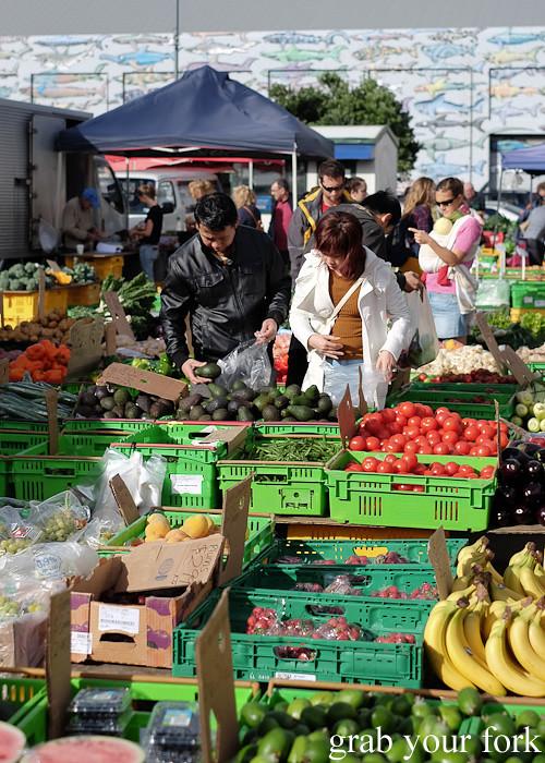 Fruits and vegetables at Harbourside Market, Wellington
