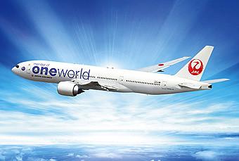 JAL B777-200ER oneworld livery (oneworld)