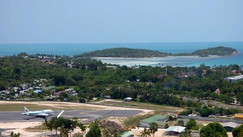 今日のサムイ島 4月22日 空港・チャウエンビーチビュー